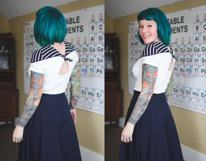 blue hair, green hair, dyed hair, colorful hair, the dainty squid, kaylah doolan hair