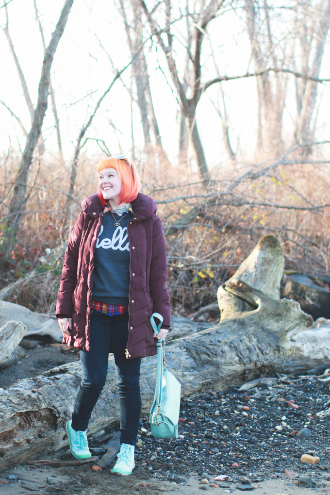 palladium boots, what I wore, orange hair