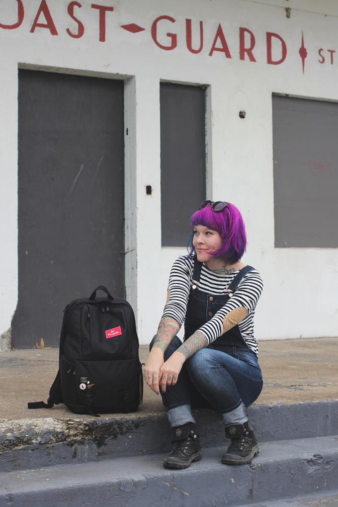 purple hair, hair dye