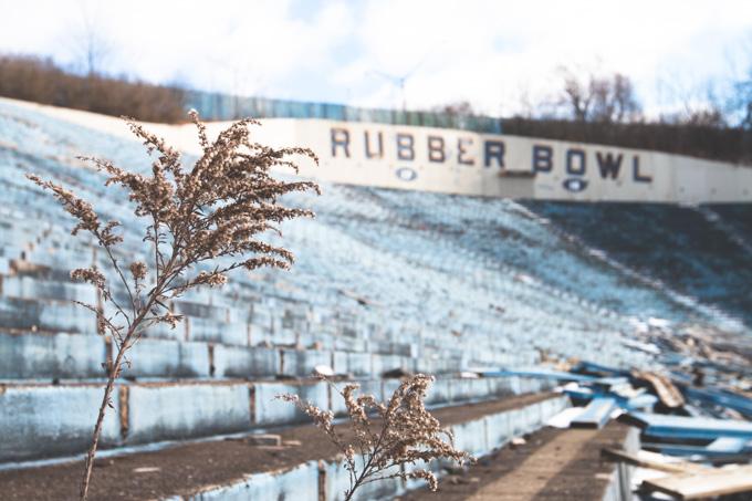 Akron, Abandoned stadium