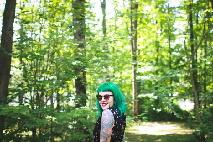 what I wore, green hair, kaylah doolan