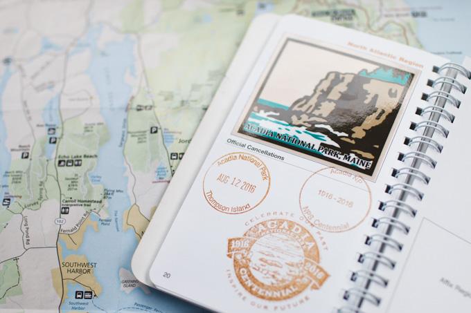 Acadia National Park, passport stamp, np passport