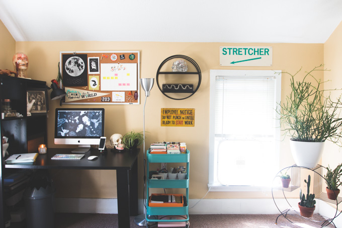 office inspo, home tour, the dainty squid, computer room