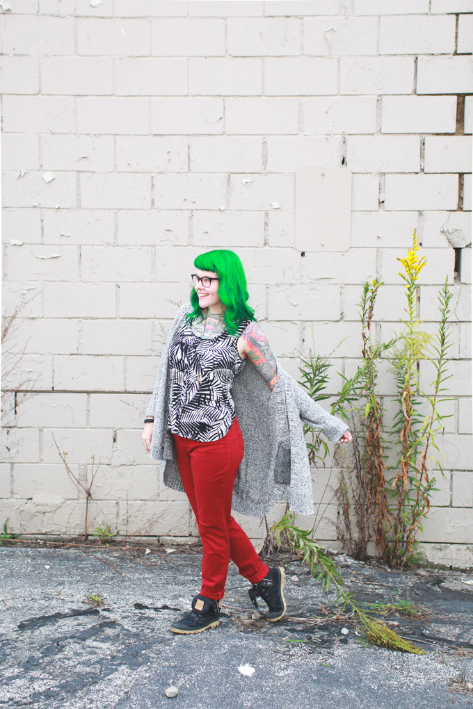 macys, the dainty squid, kaylah doolan, green hair
