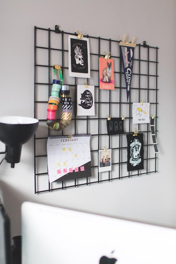 bulletin board, gridwall, office