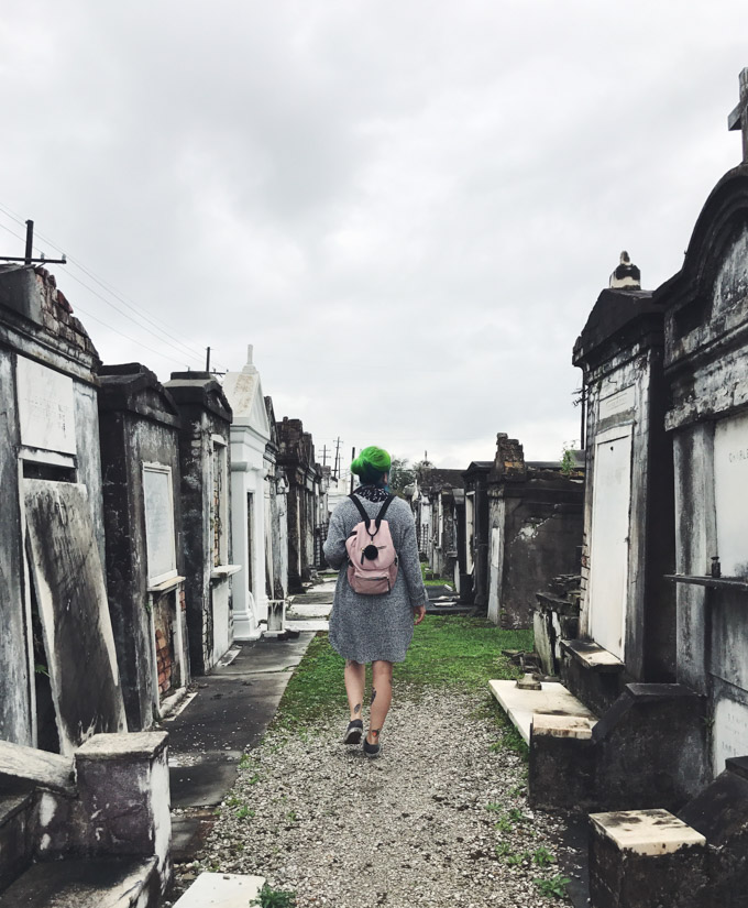 the dainty squid, cemetery, New Orleans